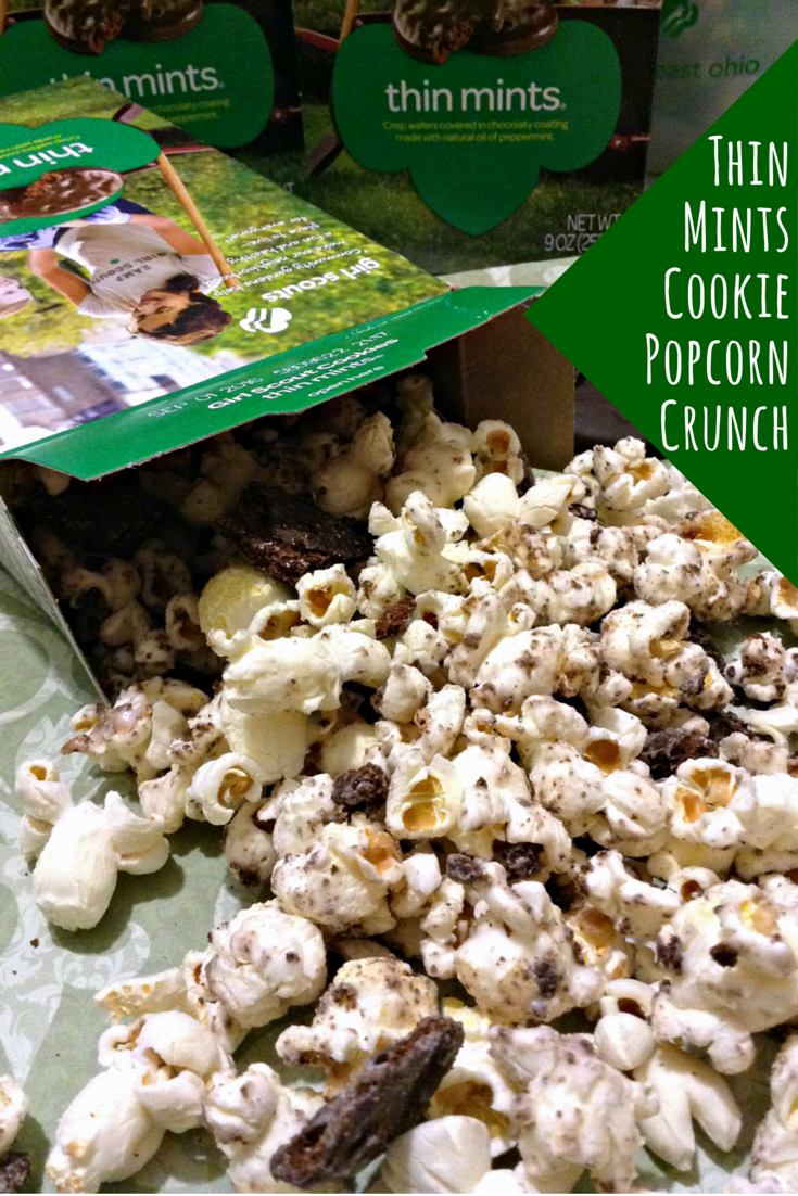 Girl Scouts Thin Mints Cookie Popcorn Munch #onemorebox #recipe
