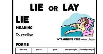 MissisabelonlinE Listen Watch and Talk!: Lie or Lay?