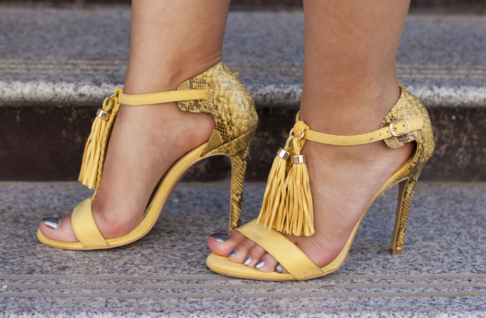 yellow sandals from amiclubwear