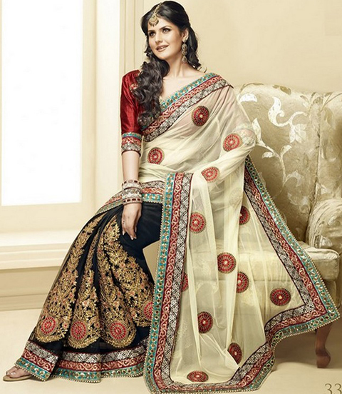 pakaian sari india modern