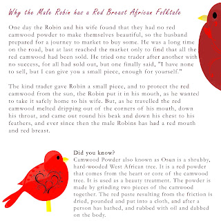 Cutest African Folktale Ever, Why the Male Robin has a Red Breast African Folktale