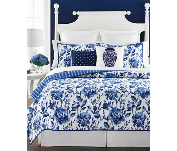 Chinoiserie Ginger Jar Quilt Pillow Martha Collection Macys