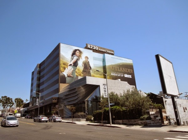 Giant Outlander billboard Sunset Strip