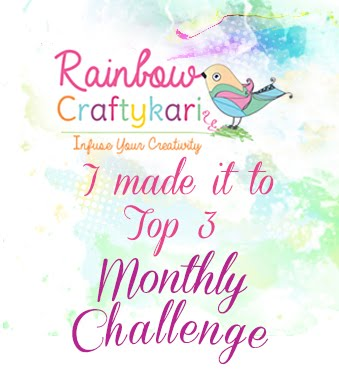 Made it Top 3 @ Rainbow Craftykari March'17 Challenge