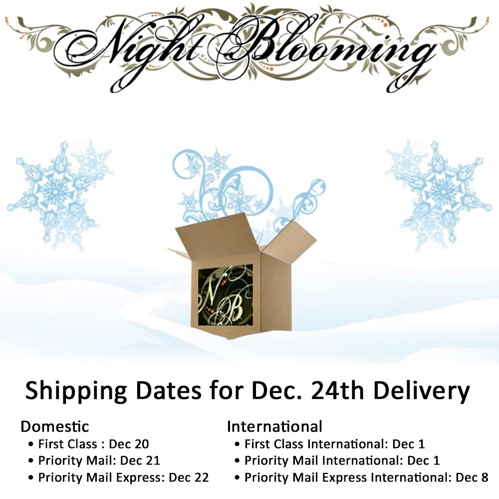 a nightblooming garden: usps holiday shipping reminder & exciting
