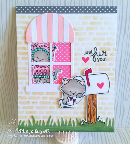 Cat in Mailbox Card by Maria Russell | Newton's Happy Mail stamp set by Newton's Nook Designs #newtonsnook #happymail