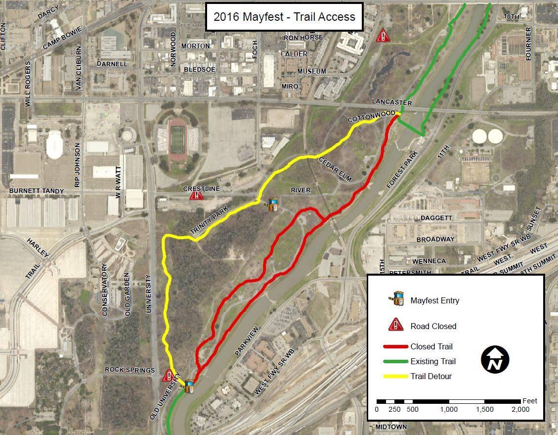 Trinity Trails: Portion of Trinity Trial Closed Through Mayfest