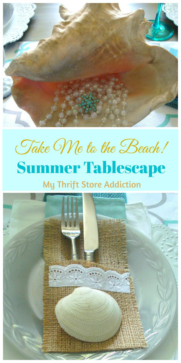 Take me to the beach tablescape