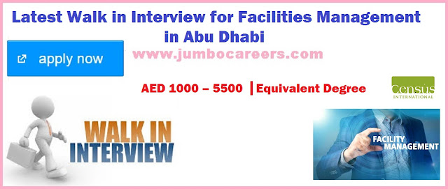 Walk in Interview for Facilities Management