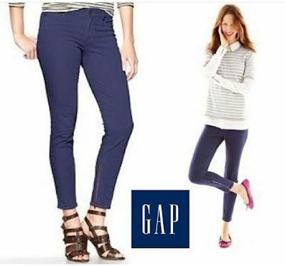 branded GAP 1969 Zip Ankle Jean - Navy original