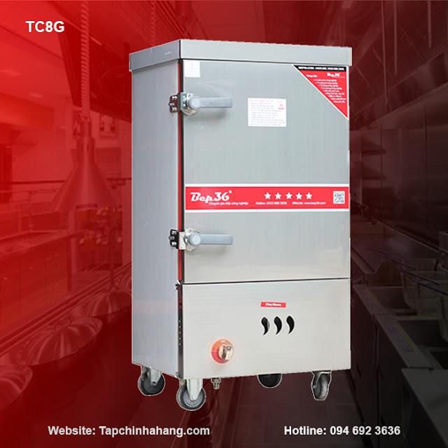 Tủ nấu cơm 8 khay sử dụng gas TCG8-2018