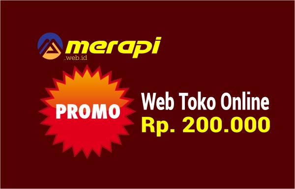 promo web toko online murah