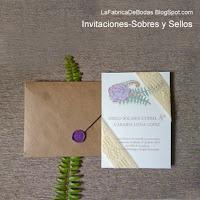 Sobre en papel craft para tarjetas guatemala vintage shabby chic boho chic rusticas cerradas con sello de cera