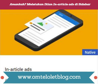 Meletakan Iklan In-article ads di Sidebar