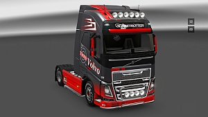 Gray & Red skin for Volvo 2012