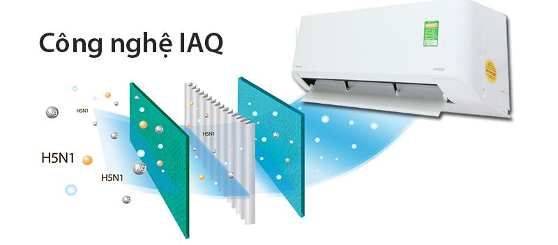 Bộ lọc máy lạnh toshiba ras-h10qksg-v IAQ giúp ngăn ngừa vi khuẩn