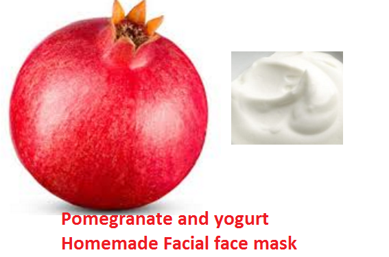 Pomegranate and yogurt Homemade Facial face mask