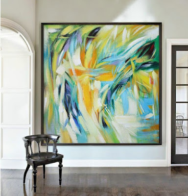 Extra Large Abstract Painting Canvas for Living Room