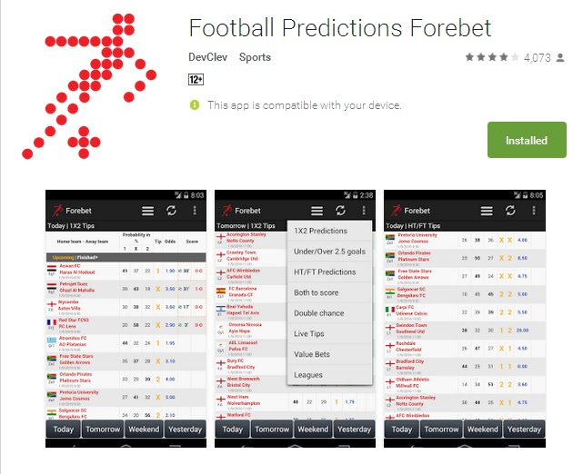 Tomorrow Match Prediction Forebet