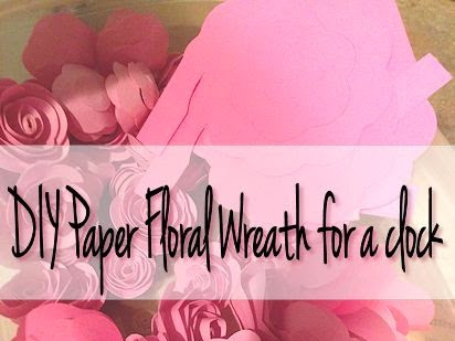 Jazz up a plain clock with a paper rose wreath