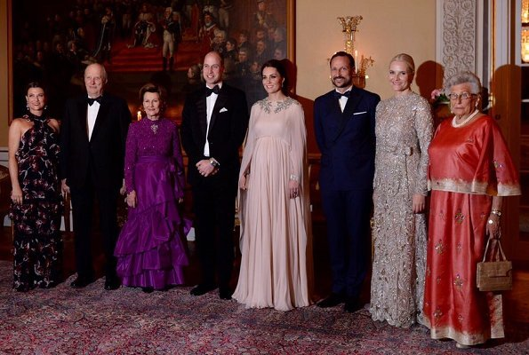 Prince William, Kate Middleton, Crown Prince Haakon, Crown Princess Mette Marit, Queen Sonja