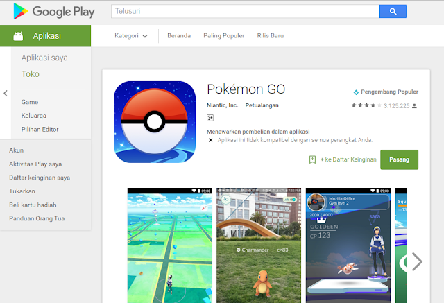 Resmi, Pokemon Go Hadir di Indonesia