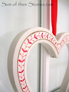 red and white hanging heart