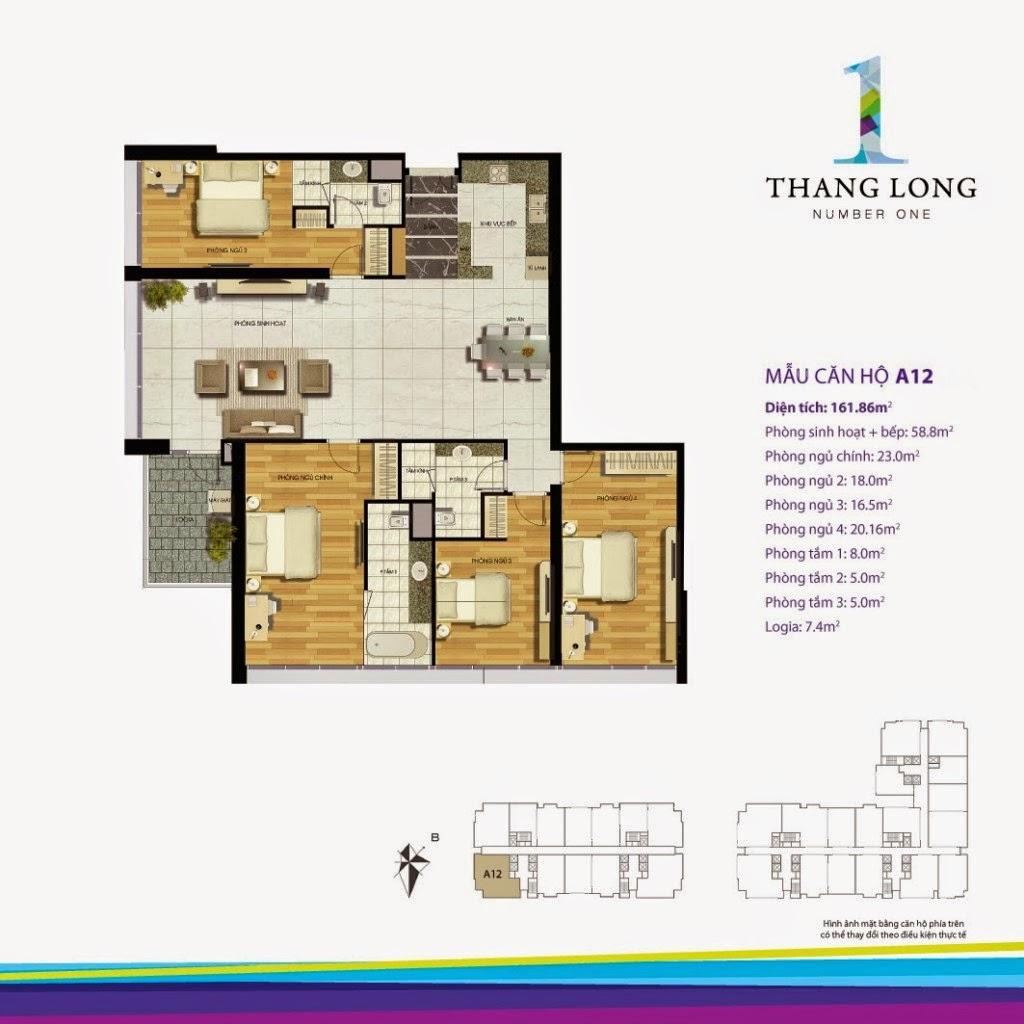 Căn A12- 161,86 m2