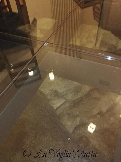 """antiche vestigia romane all'interno del ristorante """"Arcoriccardo"""" a Trieste"""
