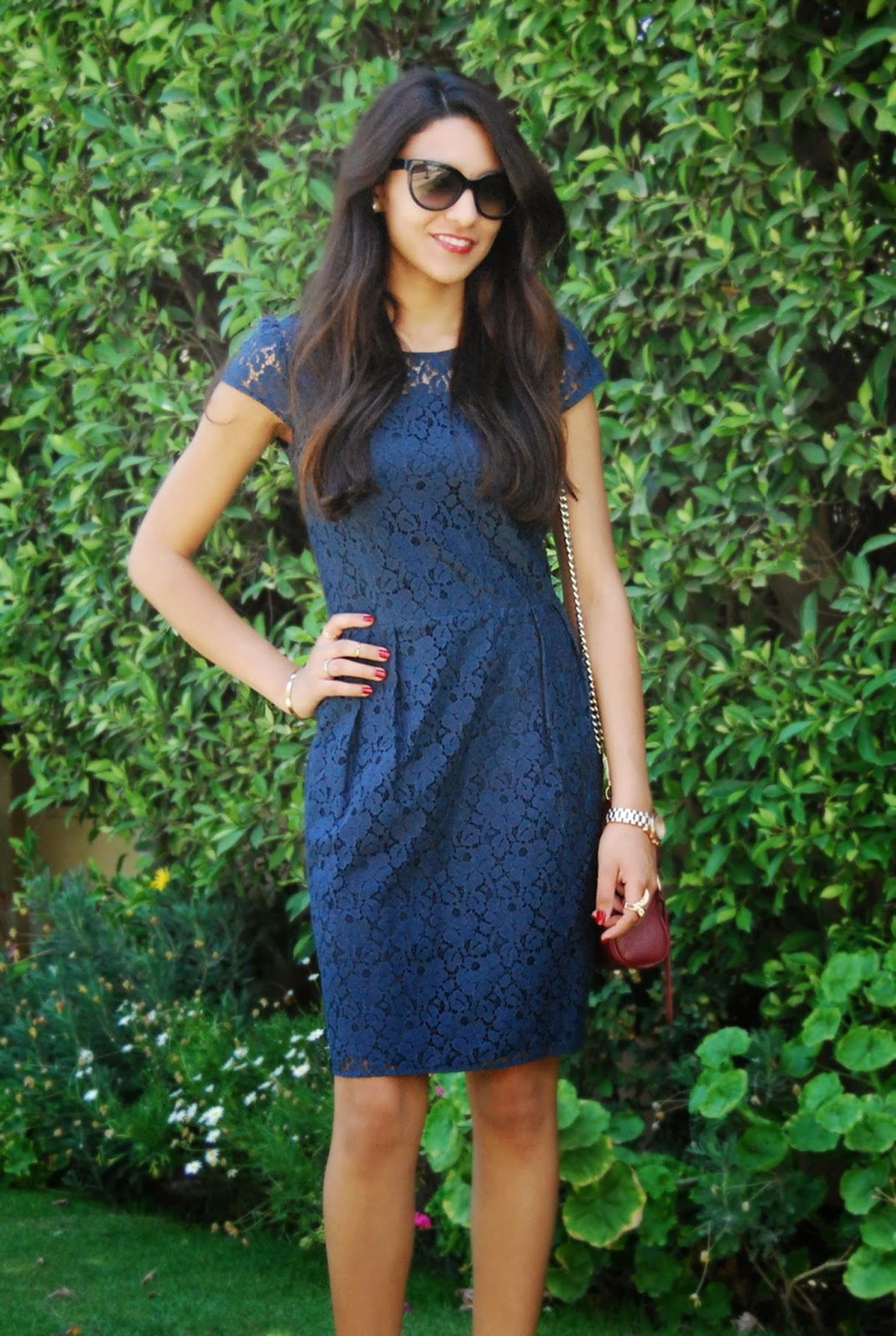 ac6419ce66 Mia s Wardrobe  Outfit post  Blue Lace