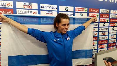 Atleta israelense leva medalha de prata no Campeonato Europeu de Atletismo