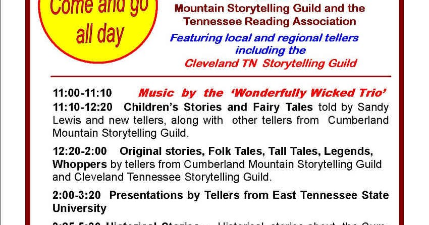 Jim young reporter storytelling festival at palace for Park place motors crossville tn