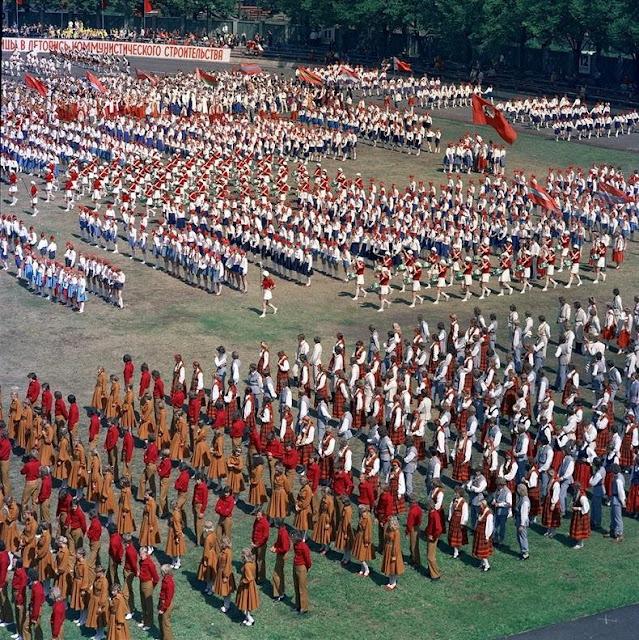 1970-е годы. Рига. Праздник песни и танца (Источник фото: F64)