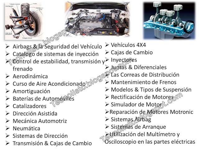 """""""Contenido de curso de Mecánica Automotriz"""""""