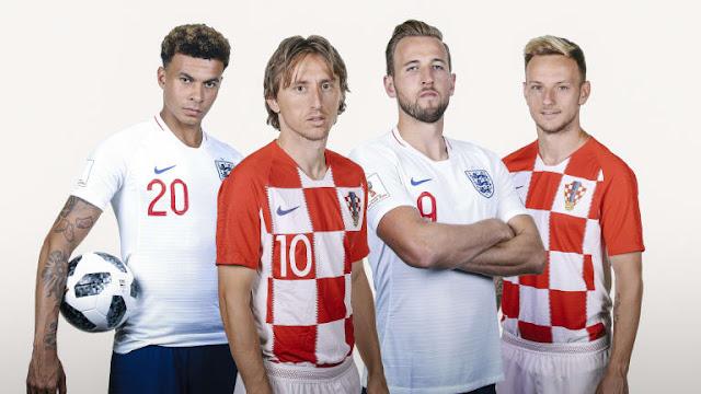 Prediksi Kroasia vs Inggris, Semi Final Piala Dunia 2018