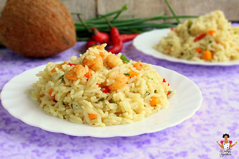 Shrimp Coconut rice