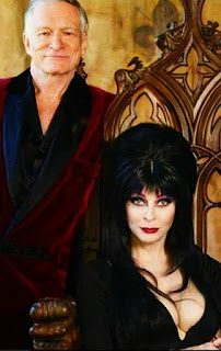 Elvira and Hugh Hefner