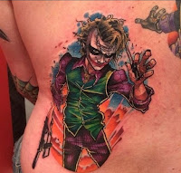 Tatuaje de The Joker estilo cartoon