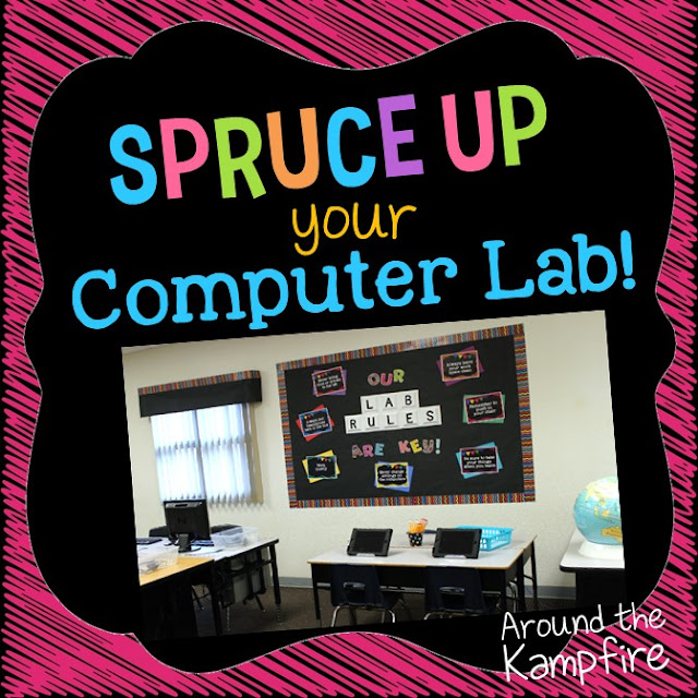 Some great decorating and management ideas for sprucing up your computer lab or technology classroom!