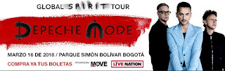 DEPECHE MODE 'GLOBAL SPIRIT TOUR' 2018 EN BOGOTÁ