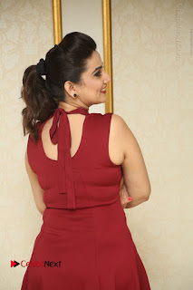 Telugu Tollywood Anchor Manjusha Pos in Red Short Dress  0026.JPG