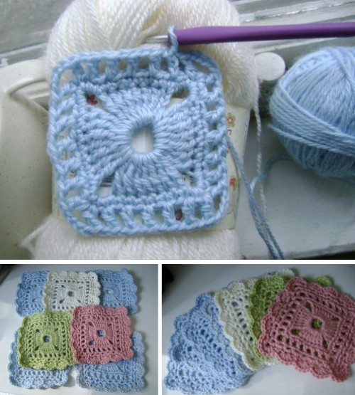 Lacy Squares Throw - Free Pattern