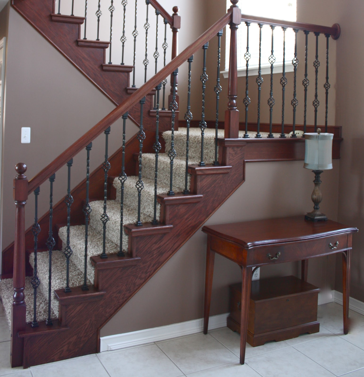 The Yellow Cape Cod: Staircase Makeover~Before and After