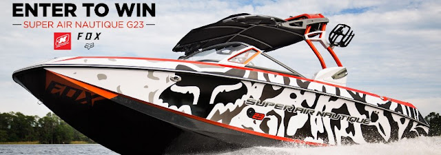FOX RACING wants you to enter once for a shot at winning this tremendous Super Air Nautique G23 Boat, customized by Fox, worth more than a whopping $100,000!
