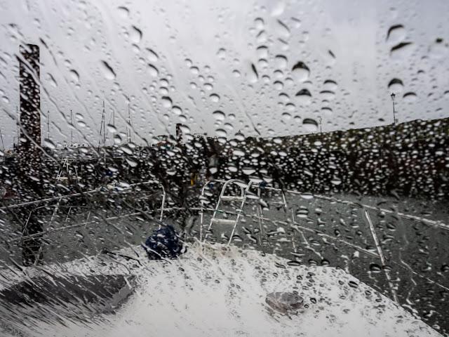 Photo of soggy Saturday at Maryport Marina