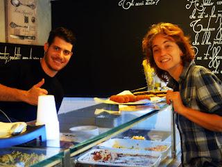"""restaurante barato trastevere roma guia portugues - Restaurantinho """"por quilo"""" em Trastevere"""