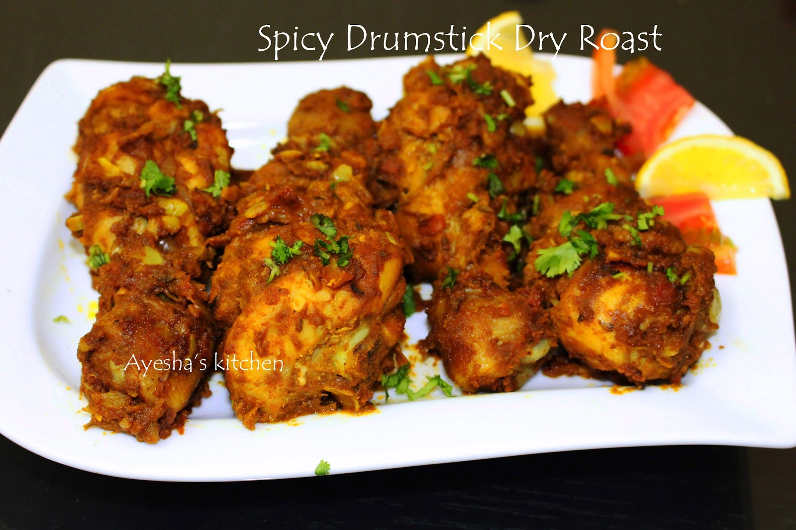 No Oil Cooking Recipe  Here Is The Recipe Showing How To Cook Spicy Chicken Drumstick Roast