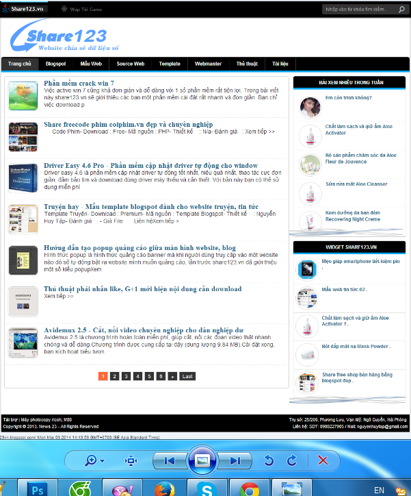 template blogspot đơn giản và đẹp