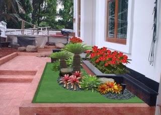 contoh gambar desain taman rumah minimalis modern terbaru