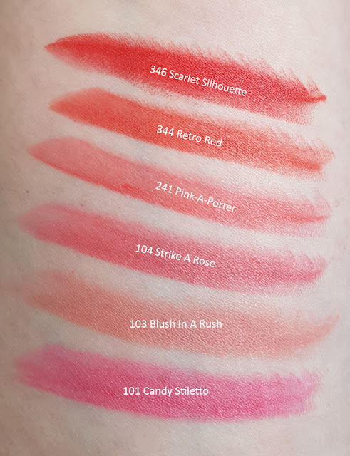 L'Oréal Color Riche Matte Lippenstifte  Swatches